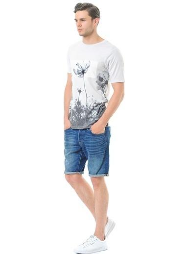 ADOFF Baskılı Tişört Bej